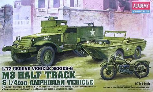 M3 HALF TRACK & 4TON AMPHIBIAN VEHICLE 1/72 13408
