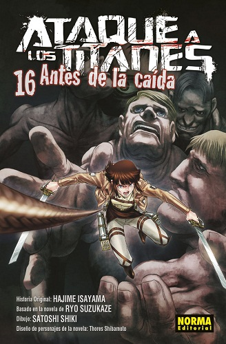 ATAQUE A LOS TITANES 16 ANTES DE LA CAIDA
