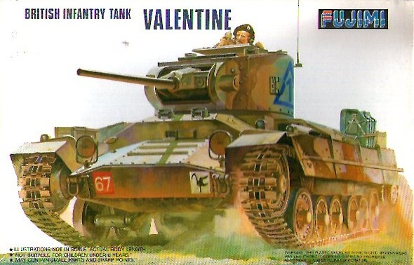 BRITISH INFANTRY TANK VALENTINE 1/76
