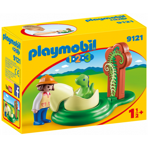 1.2.3 HUEVO DE DINOSAURIO PLAYMOBIL 9121