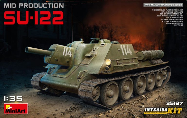 SU-122 MID PRODUCTION W/INTERIOR KIT 1/35 35197