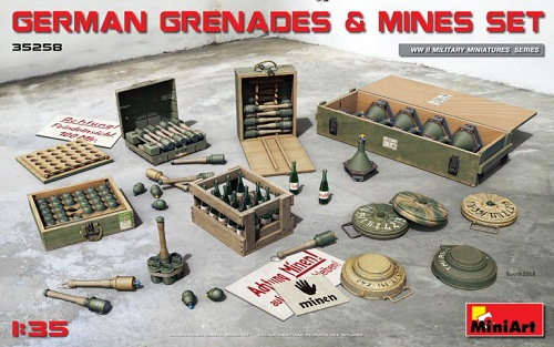 GERMAN GRENADES & MINES SET WWII 1/35 35258