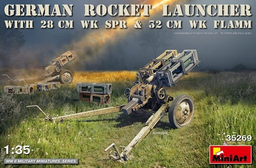 GERMAN ROCKET LAUNCHER WITH 28CM WK SPR 1/35 35269