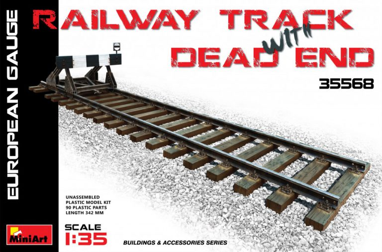 RALLWAY TRACK WITH DEAD END 1/35 35568