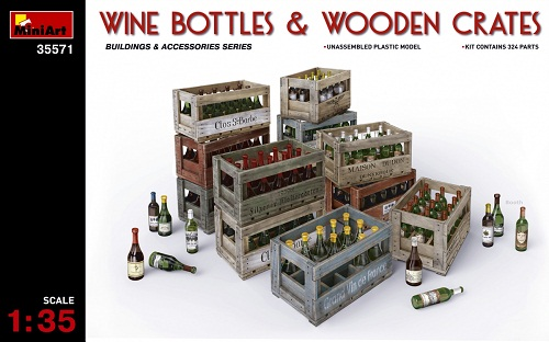 WINE BOTTLES & WOODEN CRATES 1/35 35571