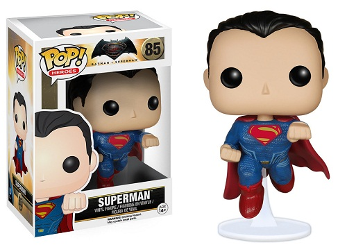 SUPERMAN FIG.10 CM VINYL POP HEROES BATMAN VS SUPE