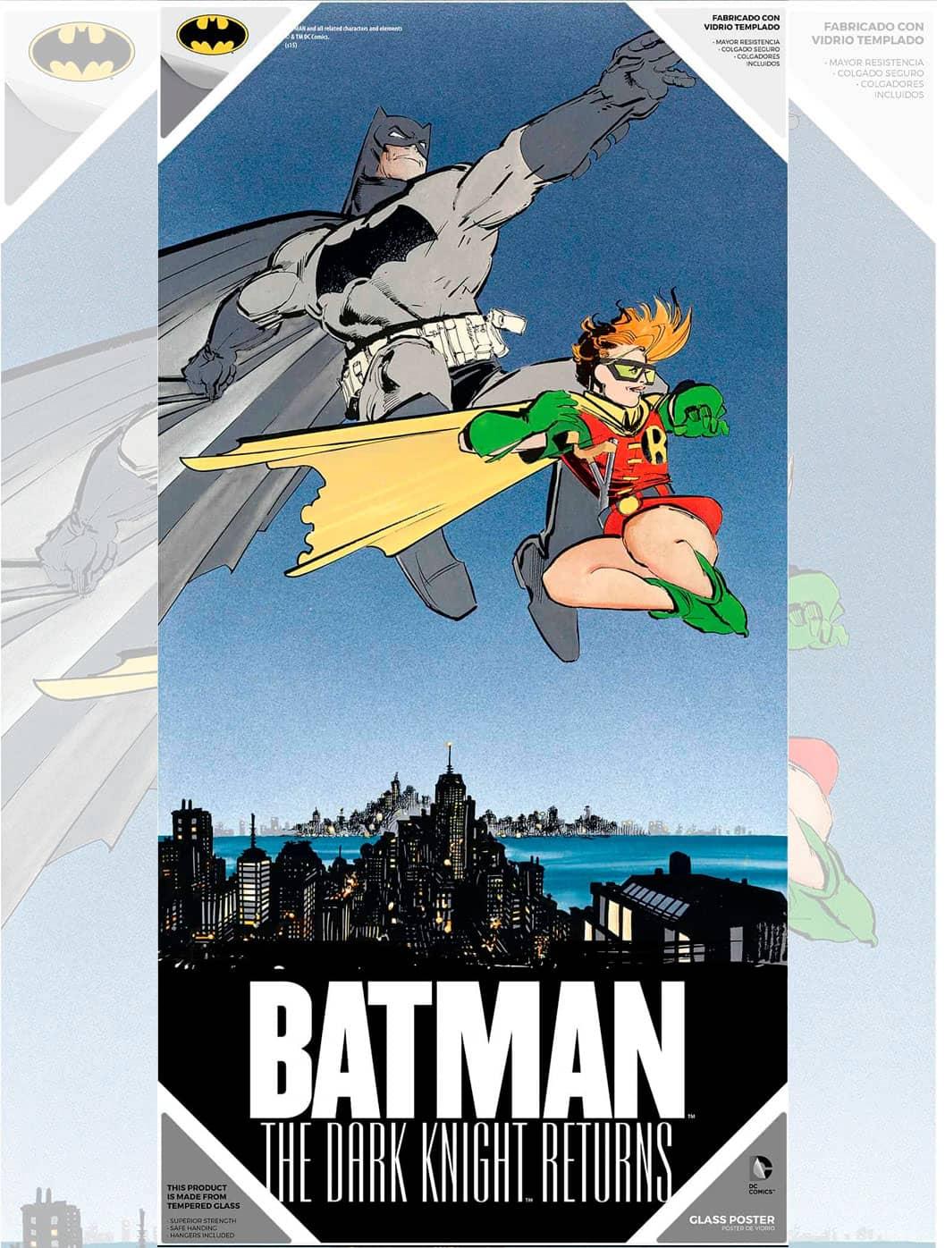 BATMAN Y ROBIN POSTER DE VIDRIO THE DARK KNIGHT RE