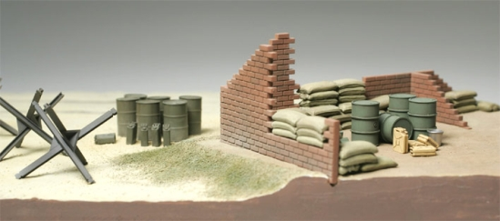 BRICK WALL, SAND BAG & BARRICADE SET 1/48 32508